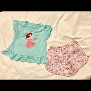 Carter's 2 pc Girl's Pajama Set